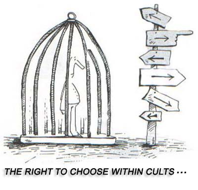 The right to choose within cults