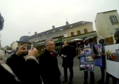 Demonstration in Paris demanding the expulsion of MKO terrorists
