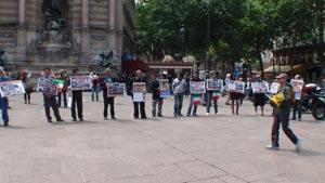 Anti-terrorism demonstration held outside Rajavi court