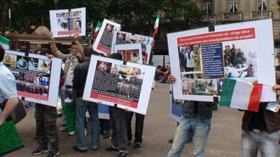 MKO defectors staged a rally in Paris