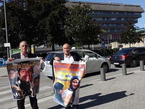 آکسیون دو پدر معترض در فرمانداری اورسورواز فرانسه