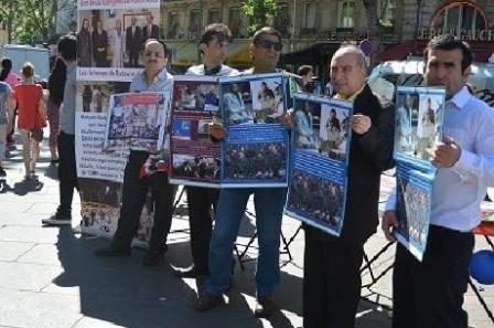 گزارش انجمن ایران ستارگان از آکسیون و گردهمایی ایرانیان و انجمنها و فعالان حقوق بشری