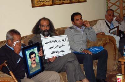 وقتی افراد خانواده ما این چنین به گروگان گرفته شده اند طبعا ما جناب عالی را بعنوان وزیر حقوق بشر عراق مسئول می شناسیم. هیچ کس نمی تواند مدعی شود که این افراد در محیطی آزاد انتخابی آزاد کرده باشند که با ما ملاقات نکنند.