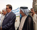 Salahuddin province tribes meet with the picketing families of Ashraf hostages