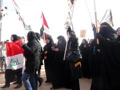 People in Iraq's Diyala province organized a protest outside Camp Ashraf