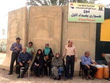 Families of MEK hostages in Camp Liberty June 2015