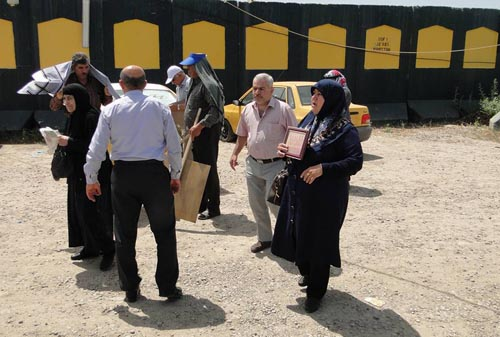 Fifth group of MKO hostages' families at Liberty gate