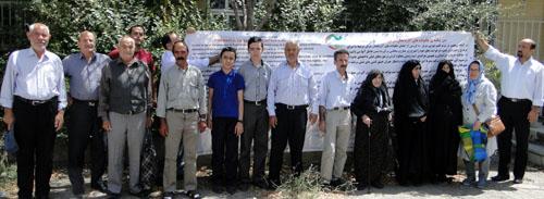 حضور موثر خانواده های استان آذربایجان شرقی در مقابل کمپ لیبرتی(11 مرداد 95)