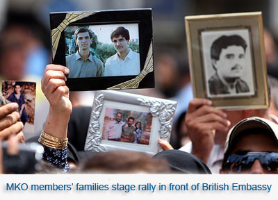 MKO Members' Families staged rally in front of UK Ebmassy