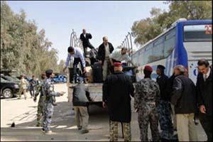 نقل ممتلكات الوجبة السادسة من عناصر خلق تمهيداً لنقلهم إلى بغداد