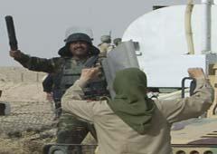 رگیری اعضای مجاهدین با پلیس عراق در اردوگاه اشرف