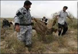 A mass grave discovered in the headquarters of the Mujahedin-e Khalq Organization in Iraq