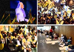5000 rent-a-crowd audience gathered in Villepinte for Rajavi's speech