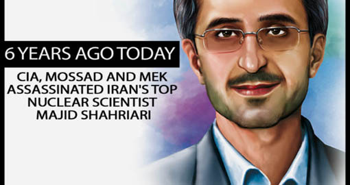6 Years ago Today: CIA, Mossad and MEK Assassinated Iran's Top Nuclear Scientist Majid Shahriari