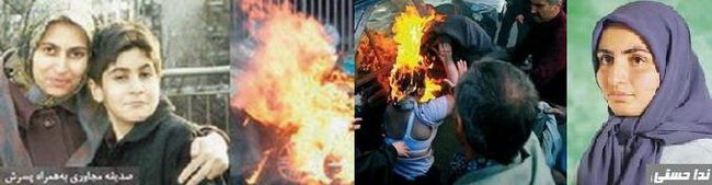 Some even resorted to a violent extreme political protest over the arrest of Maryam Rajavi when they set themselves ablaze. Two women died as a result