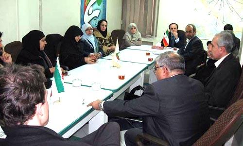 British Moslem community delegation visited the Nejat Society