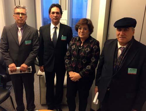 دیدار هیأتی از جداشدگان فرقۀ رجوی با نمایندۀ پارلمان اروپا از پرتقال در بروکسل
