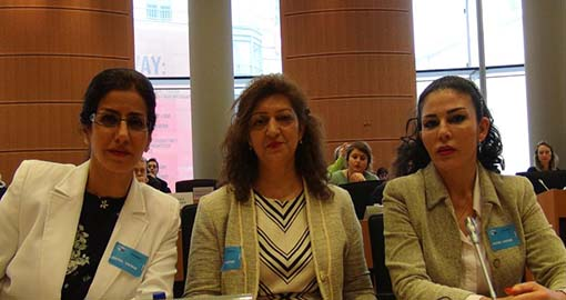 Female defectors expose the MKO cult at the European Parliament