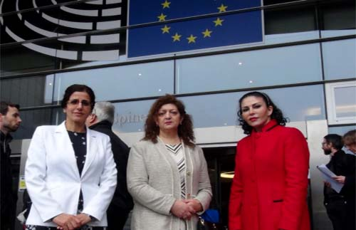 Iran-Zanan members at the EU Parliament
