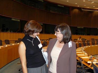 خانم نسرین ابراهیمی در پارلمان اروپا