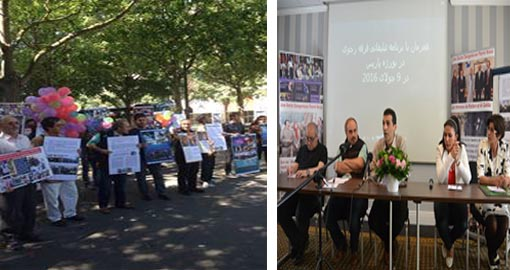 Great gathering of Mujahedin-e Khalq Cult critics in Paris