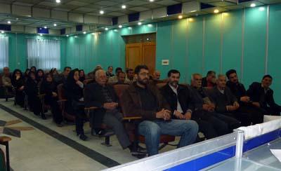 Families gathering at Nejat Office,Gilan