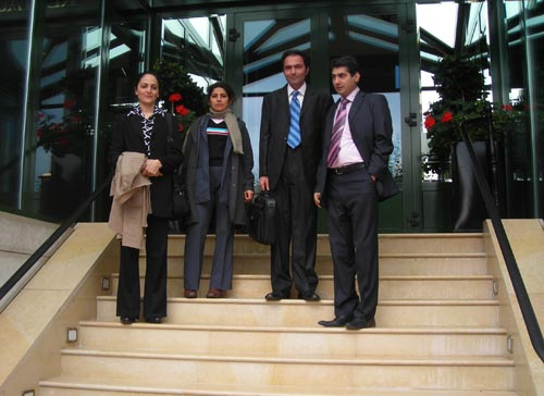 The delegation of Nejat Society in Geneva to participate in sessions of the United Nations Human Rights Council