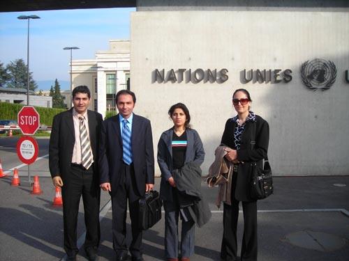 هیئتی از طرف انجمن نجات مستقر در ایران برای شرکت در اجلاس شورای حقوق بشر سازمان ملل متحد و ملاقات با هیئت های شرکت کننده وارد ژنو شده است.