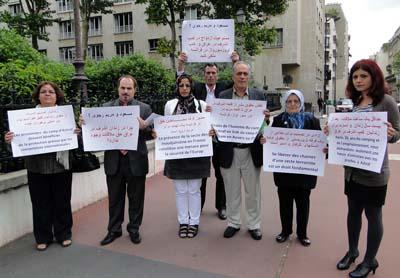 حضور هیئتی از شرکت کنندگان سمینار پاریس در دفتر سازمان دیدبان حقوق بشر
