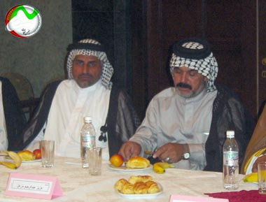 Nejat Society meeting with the head of Iraqi Tribes
