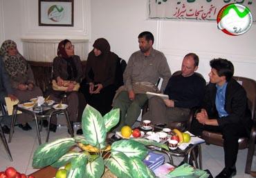 لقاءجمعيه نجات شيراز مع مندوبين الهلال الاحمر الدولي