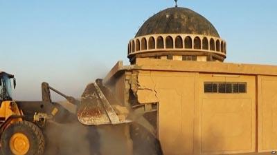 چرا فرقه رجوی نسبت به تخریب اماکن مذهبی توسط داعش سکوت کرده است؟