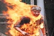 self Immolation of The Cult of Rajavi
