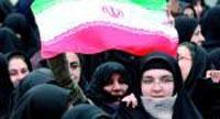 Tehran in January 2009: Iranian women demonstrate against the recent decision of the EU, which removed mujahedin khalq from the list of terrorist organizations.  Photo: EPA / Abedin Taherkenareh
