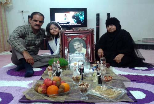 رستم آلبوغبیش: به کوری چشم رجوی، نوروز 94 را کنار خانواده ام جشن گرفتم