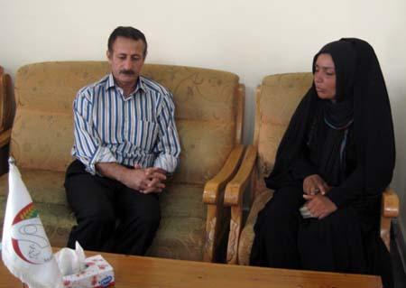 خانم نسیبه آهنگر طبقی فرزند عبدالحسین اسیر فرقه رجوی در عراق