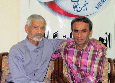 Mr. Mohammadali Bazkiyaei longs to hear his son's voice