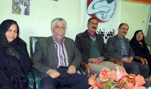 دیدار با خانواده اسماعیل فلاح رنجکش در دفتر انجمن نجات گیلان