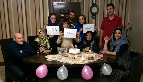 Iranpur family celebrate Ahmadreza's birthday who is held hostage by the MKO Cult