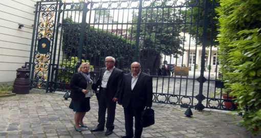 Former members of MKO Cult at Poland Embassy in France
