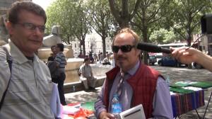 اعلام جدایی رسمی آقای نادر کشتکار از سازمان مجاهدین در حاشیه آکسیون اعتراضی پاریس