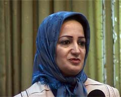 Maryam Sanjabi, one of the MKO deserters,