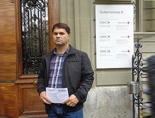 گزارش ملاقات میر باقر صداقی با مقامات صلیب سرخ شهر برن