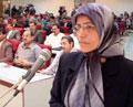 خطاب السيدة سلطاني الموجه للعوائل والاسرى الضحايا في قلعة اشرف