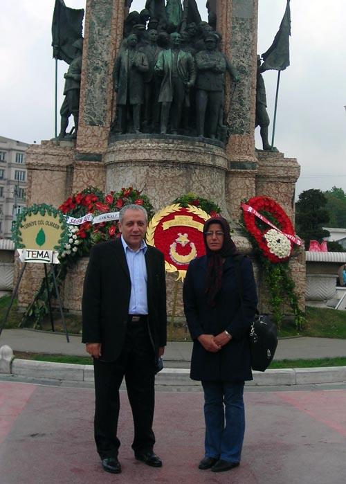 در خدمت خانم سلطانی در استانبول