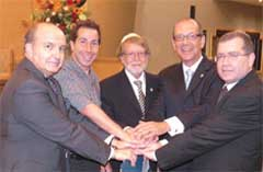 Pictured at the AMIA [Association Mutual Israelita Argentina] commemoration
