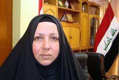لقاء آل ياسين تطالب الحكومة بالاسراع في أنهاء تواجد منظمة «خلق» في العراق