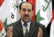 المالکي : لن نتراجع عن إخراج زمرة المجاهدين الارهابية من العراق