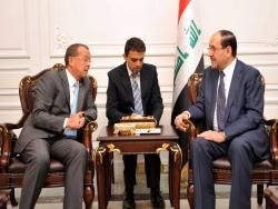 المالكي يطالب الأمم المتحدة إيجاد حل لقضية منظمة خلق قبل نهاية العام