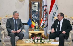 Foreign Minister Hoshyar Zebari met on 26/2/2013 at the Ministry HQ the Belgian Deputy Prime Minister Foreign Minister, Didier Reynders,